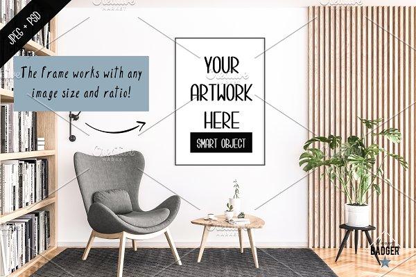 Frame Mockup Bundle & 10 Interiors