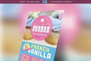 Cutie Treats Bakery Flyer Template