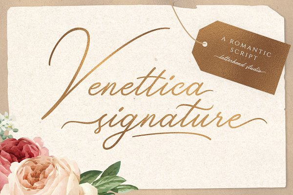 Best Venettica Signature Romantic Script Vector