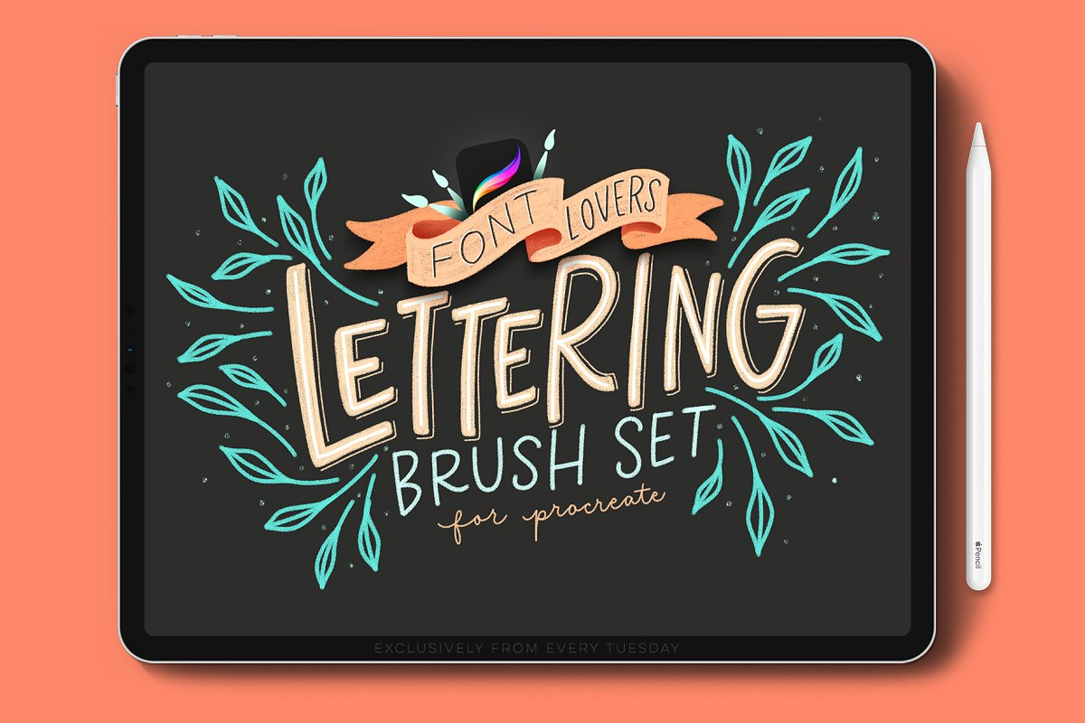 Font Lovers Lettering Brushes