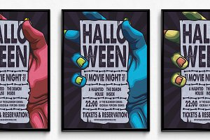 Halloween Movie Night Poster