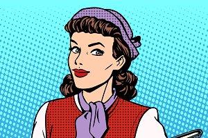 Businesswoman seller consultant