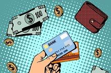 Bank card business discounts money