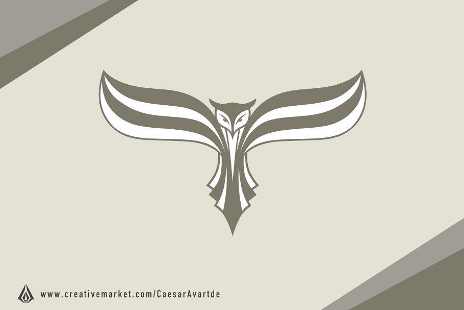 Flying Owl Logo Template