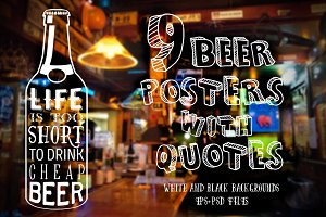 Beer posters with quotes
