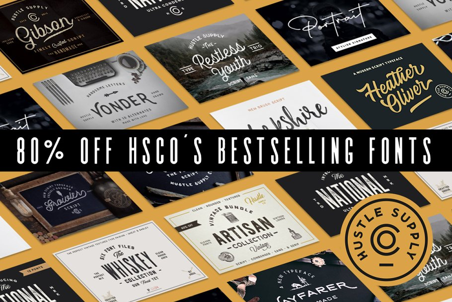 The Bestseller's Font Bundle!