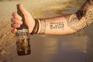 Beer | Bottle Tattoo Mockup