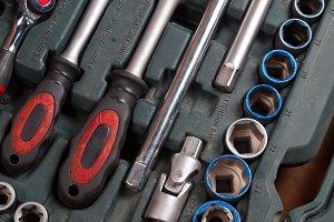 Toolbox, tools kit detail