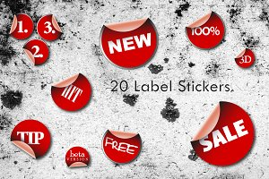 20 Vector Label Stickers