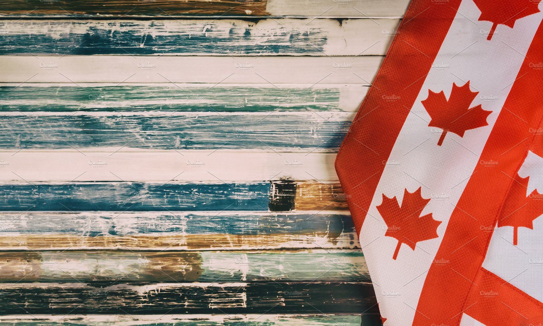 Happy Victoria Day Canadian Flags Containing Canada Day Remembrance Day And High Quality Holiday Stock Photos Creative Market