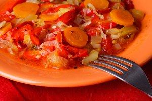 Stewed vegetables
