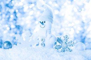 Snow and bokeh
