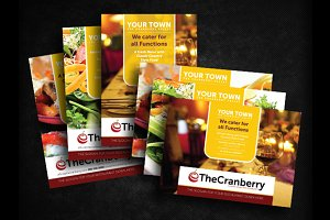 Cranberry Restaurant Advert Flyer