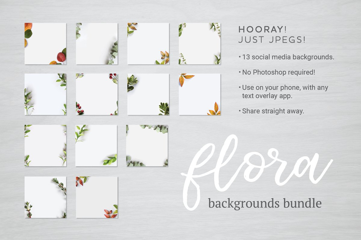 Flora Backgrounds Bundle