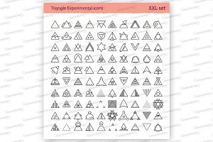 Triangle linear icons