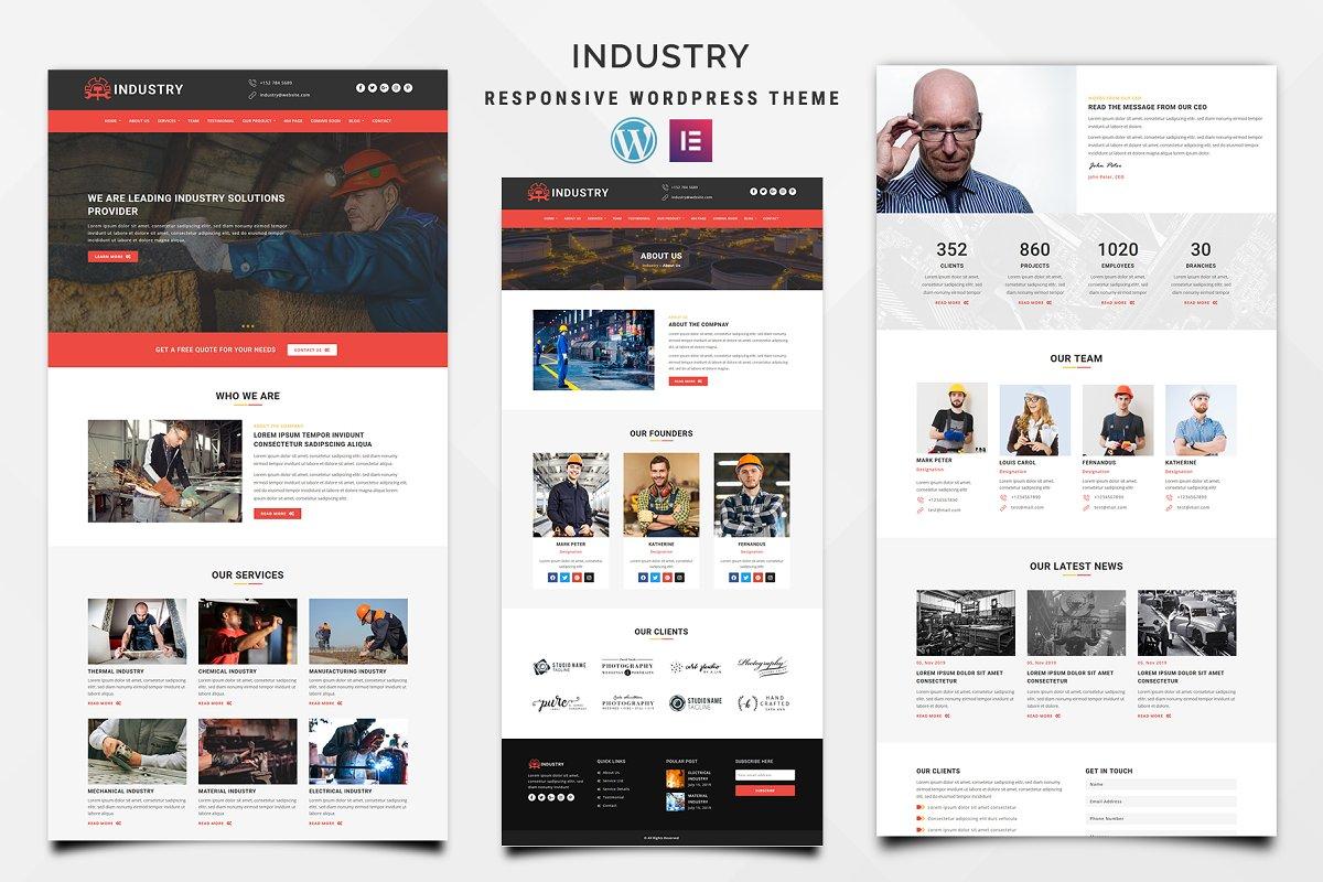 Industry - Elementor WordPress Theme
