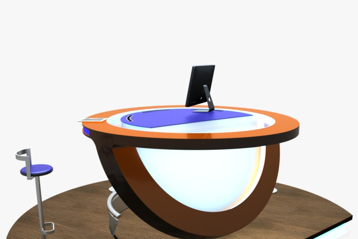 Virtual TV Studio Podium Desk Imac27