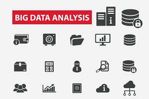 25 big data analysis icons