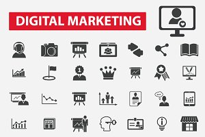 49 digital marketing icons