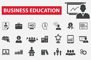 42 business education icons