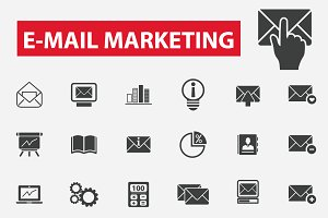 30 e-mail marketing icons