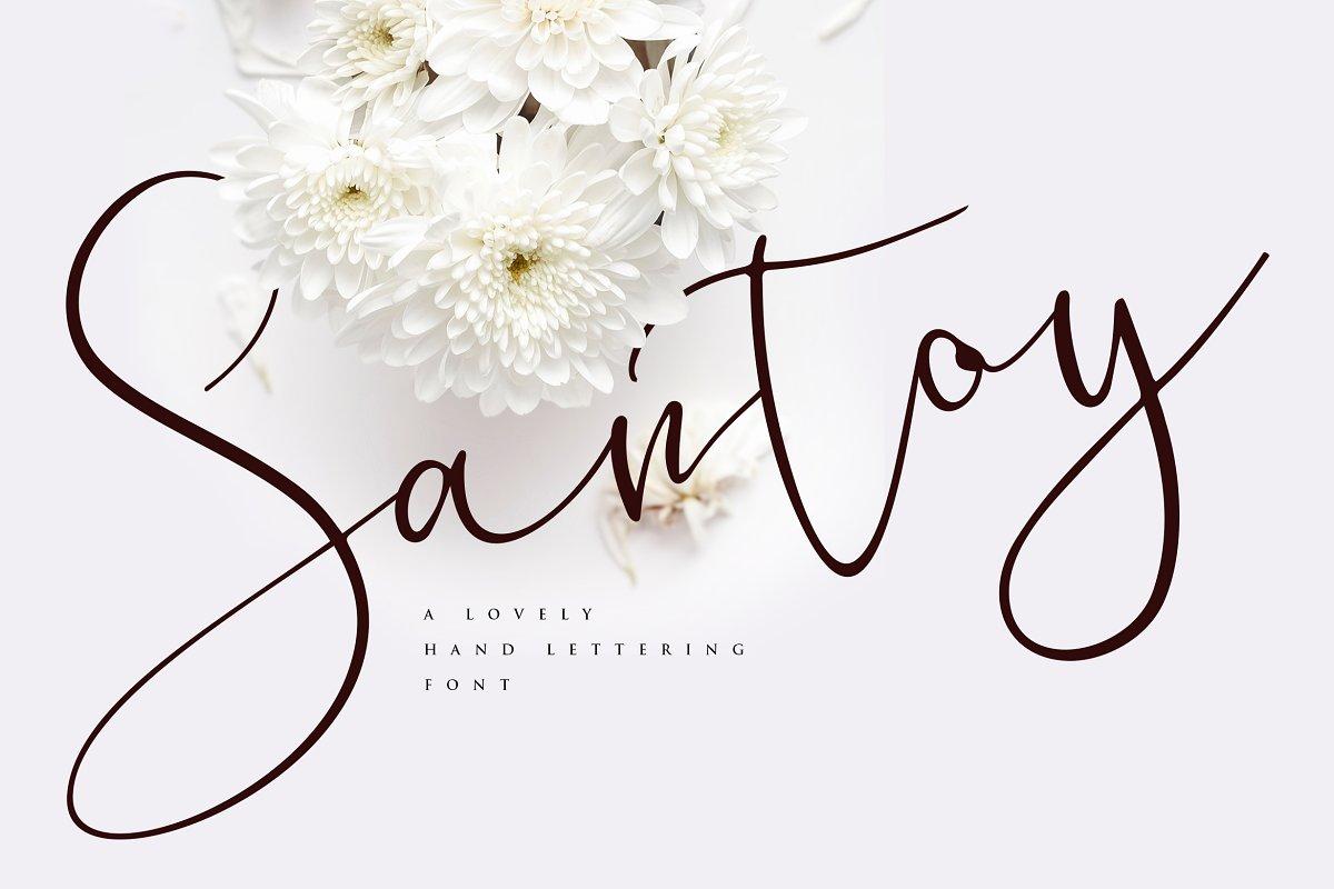 Santoy | Hand Lettering Font ~ Script Fonts ~ Creative Market