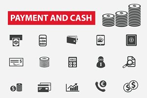 25 finance, payment, cash icons