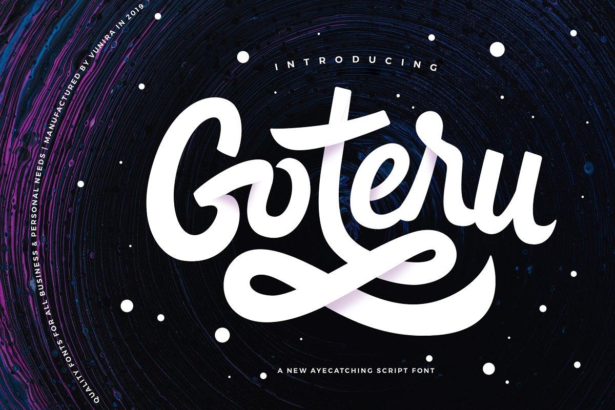 Goteru   Eyecatching Script Font ~ Script Fonts ~ Creative