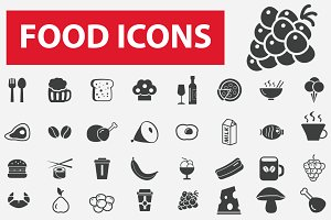 56 food and drinks icons