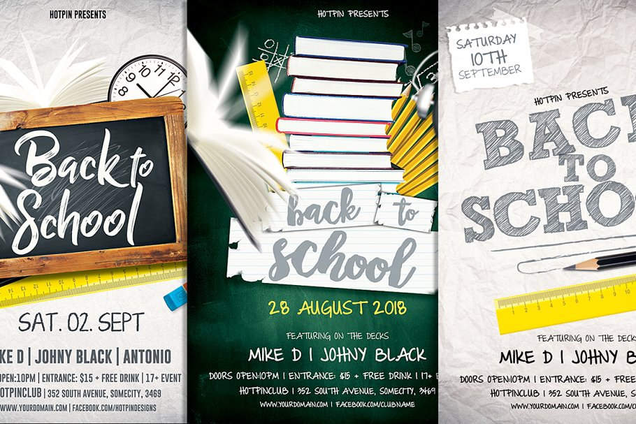 Back To School Flyer Template Bundle Flyer Templates Creative Market