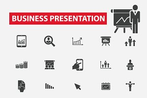 25 business presentation icons