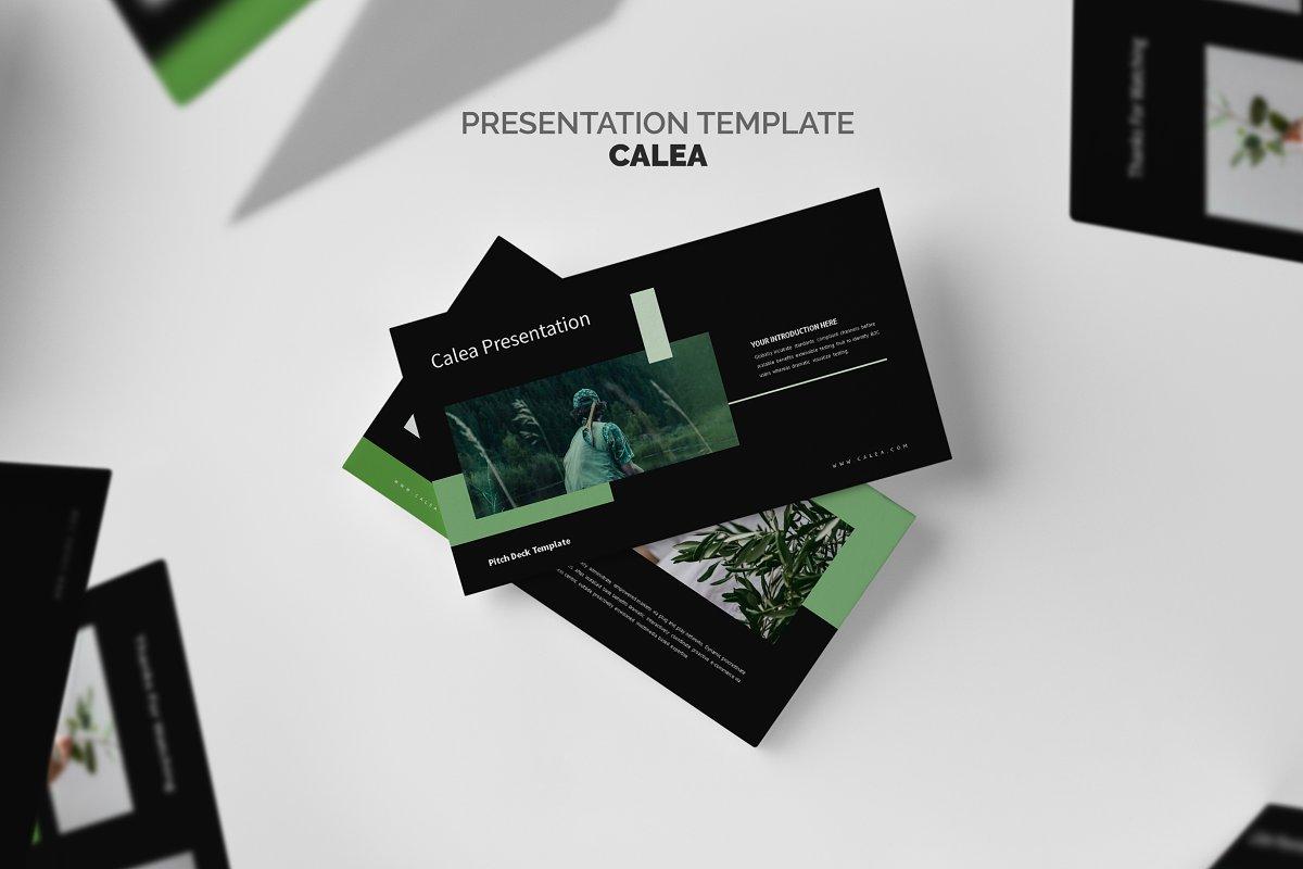 Calea : Green Pitch Deck Powerpoint