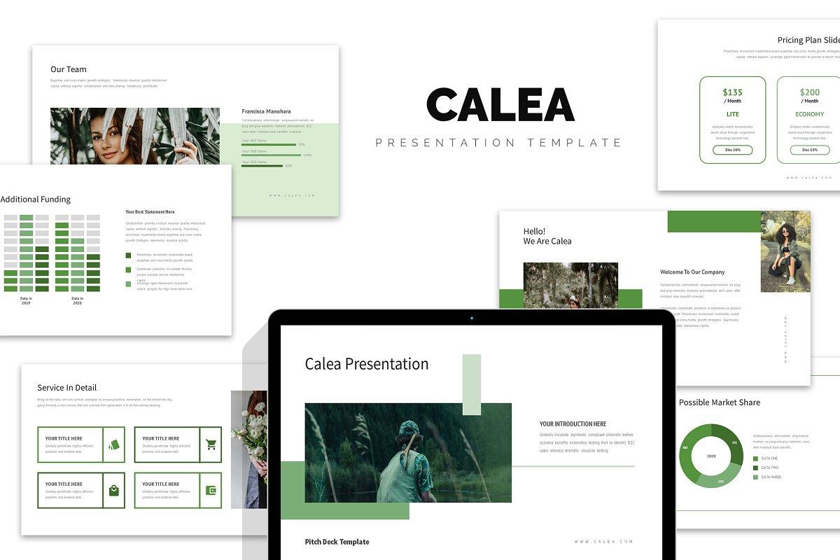 Calea : Green Pitch Deck Keynote