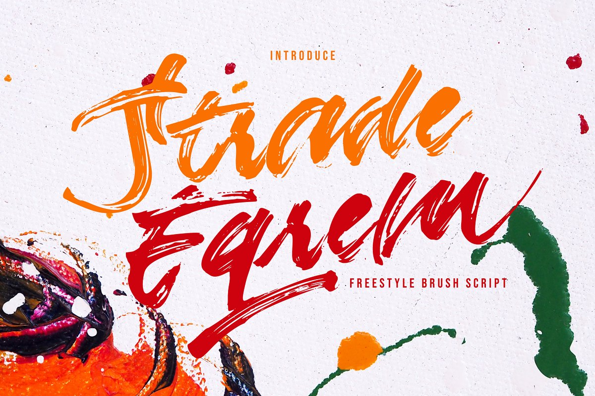 Strade Eqrem | Freehand Brush Script