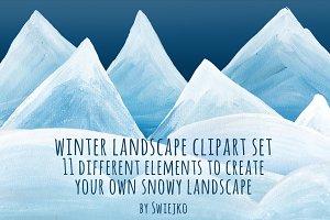 Snowy Landscape - clipart