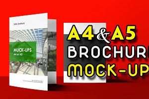 Tri-Fold A5 Brochure Mock-ups