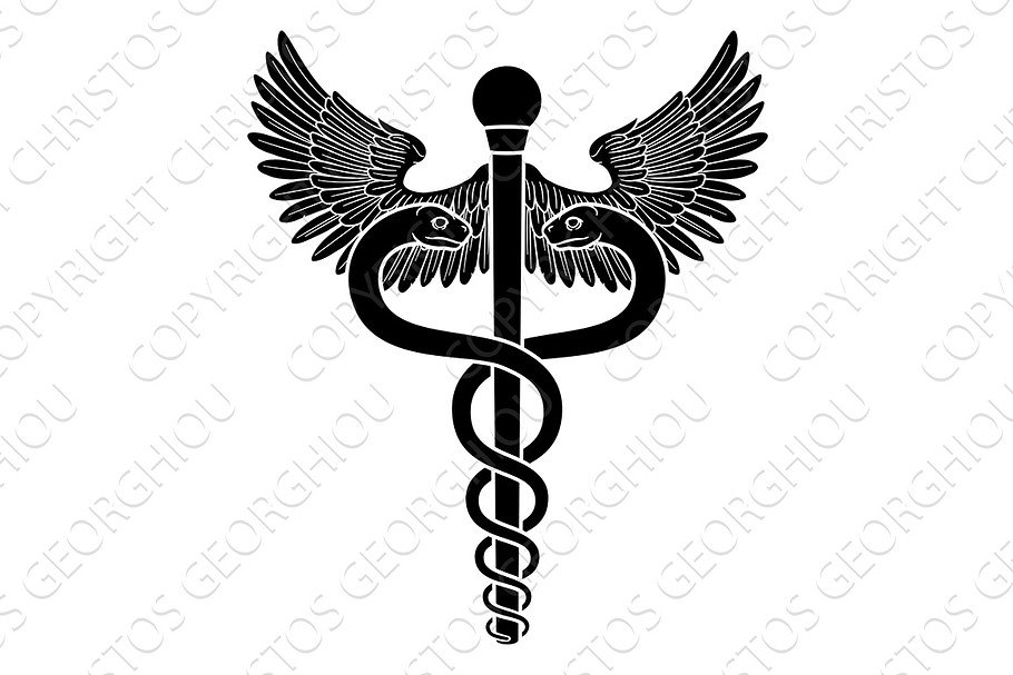 Caduceus Medical Doctor Symbol