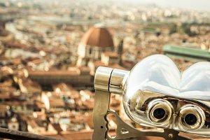 Tourist binoculars, Firenze.