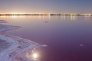 Salt lake landscape