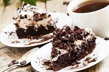 Delicious chocolate coffee cake