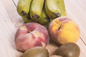 Fruit on wooden table
