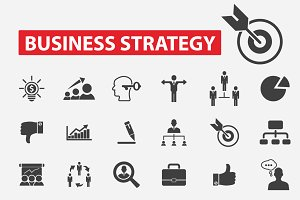 30 business strategy icons