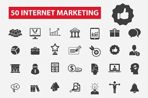 50 internet marketing icons