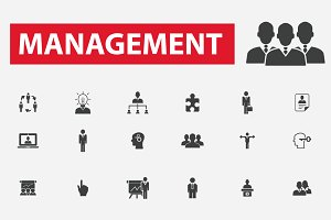 36 management icons