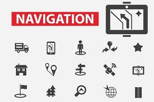25 navigation icons