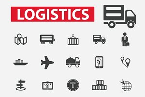 25 logistics, delivery icons