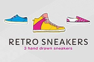 Retro sneaker illustrations