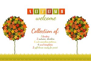 Autumn Welcome Vector Kit