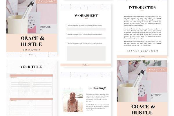 Grace & Hustle Opt in Canva Adobe