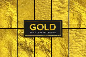 11 Gold Foil Patterns - Seamless